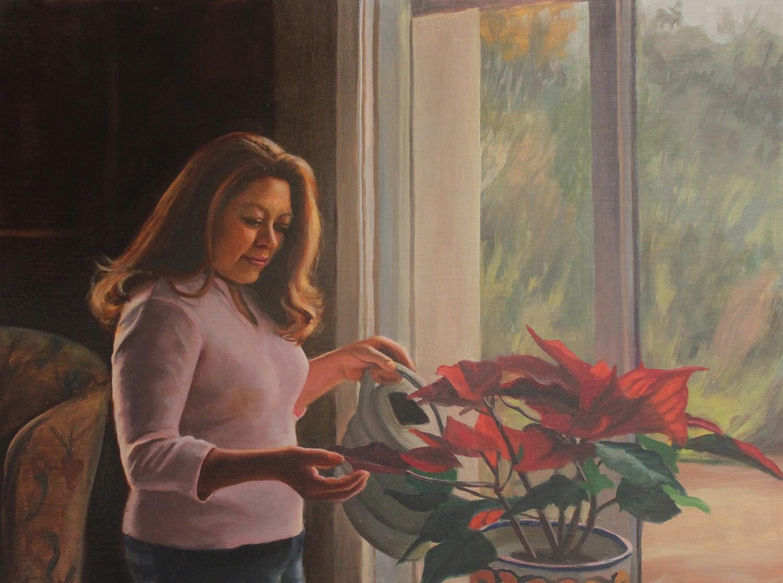 Geneveva Gonzalez oil painting 16x20