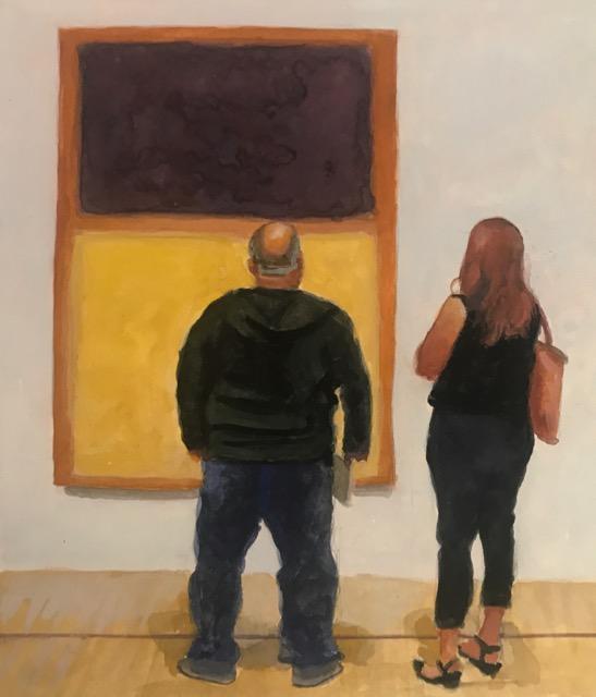 I Own a Rothko No.9 ,   5x6 gouache, Holli Harmon