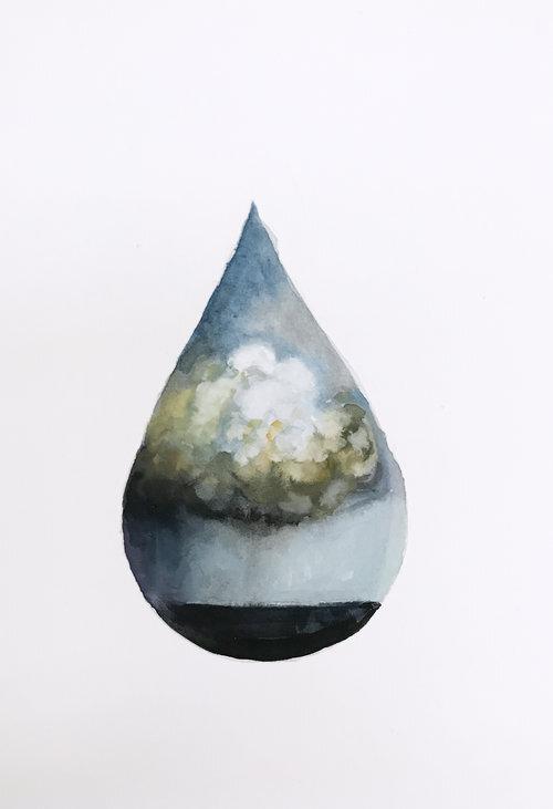 One Drop, Gouache 3x4