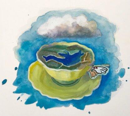 Juncal Dam as a Teacup -