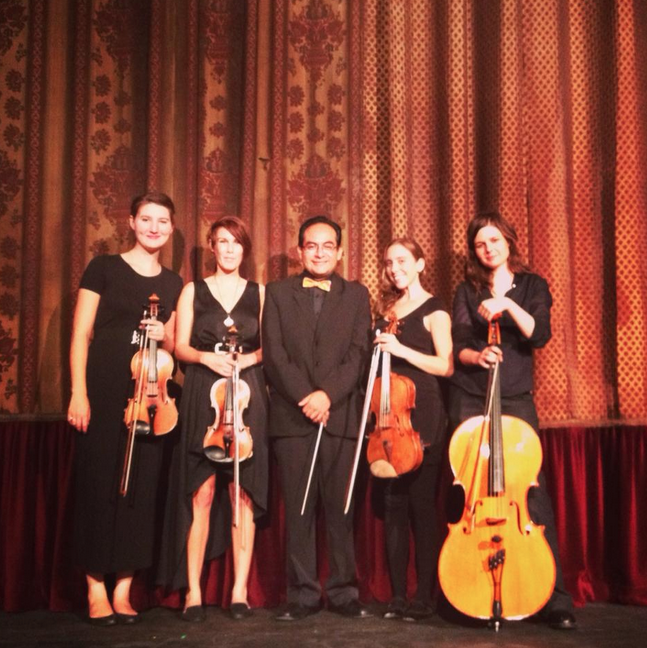 Isaura String Quartet with conductor Gamaliel Cano