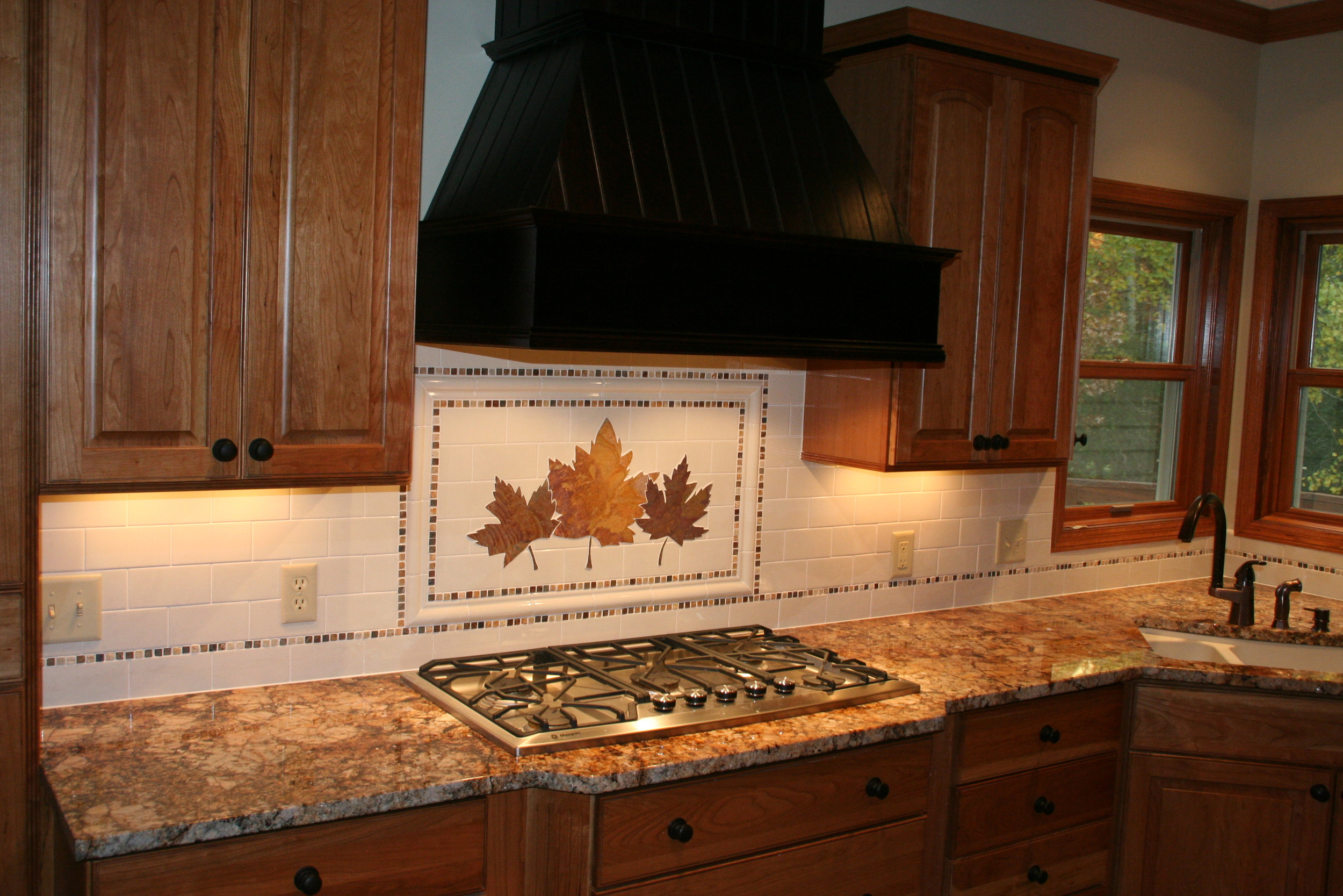 Maple Leaf Backsplash