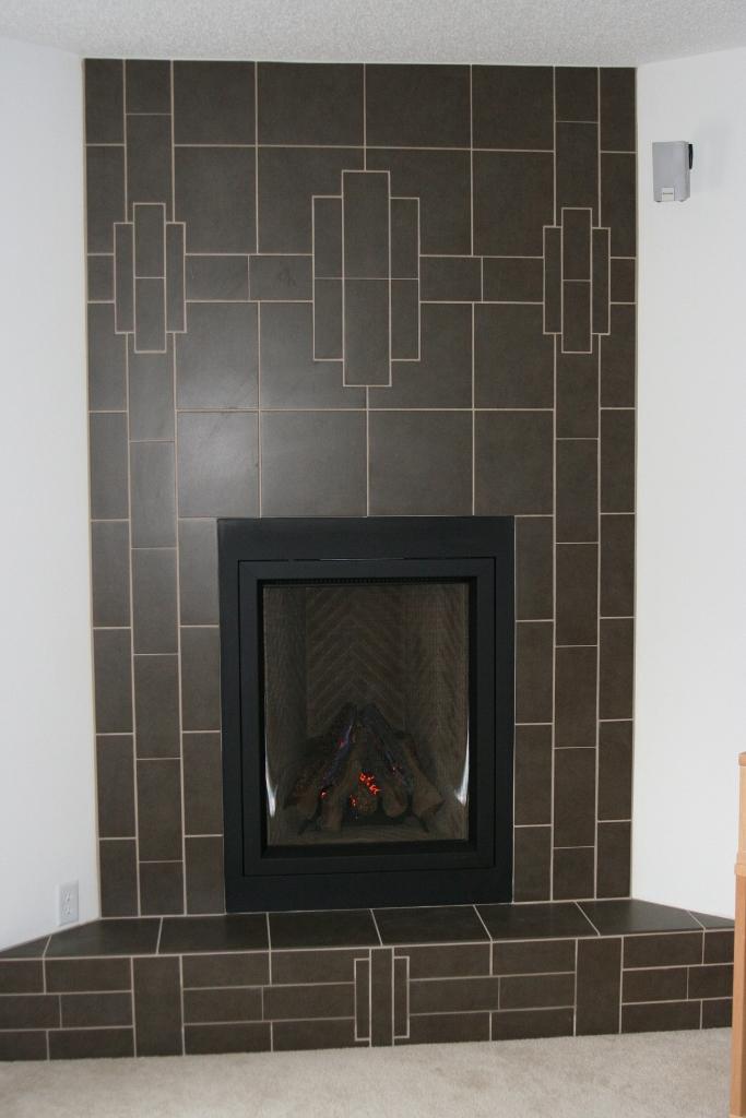 Gray Porcelain Fireplace