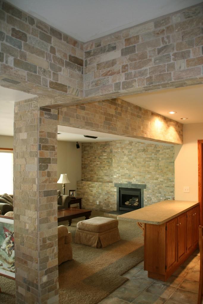Quartz & Slate Fireplace