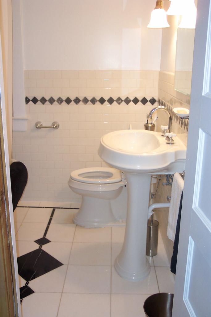 Traditional Marble Bathroom