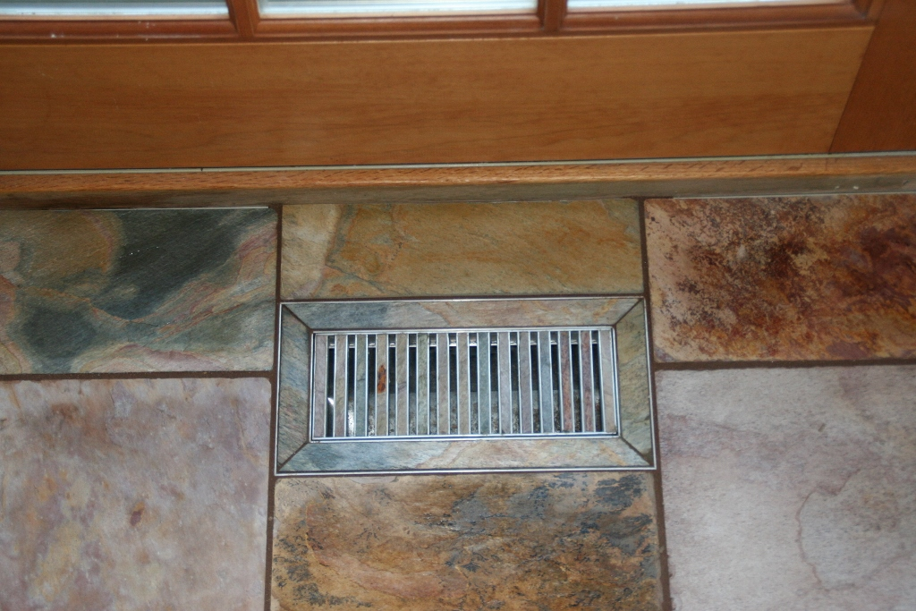 Slate Floor Heat Vent