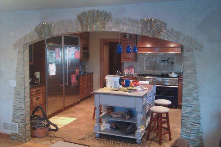 Archway into Kitchen