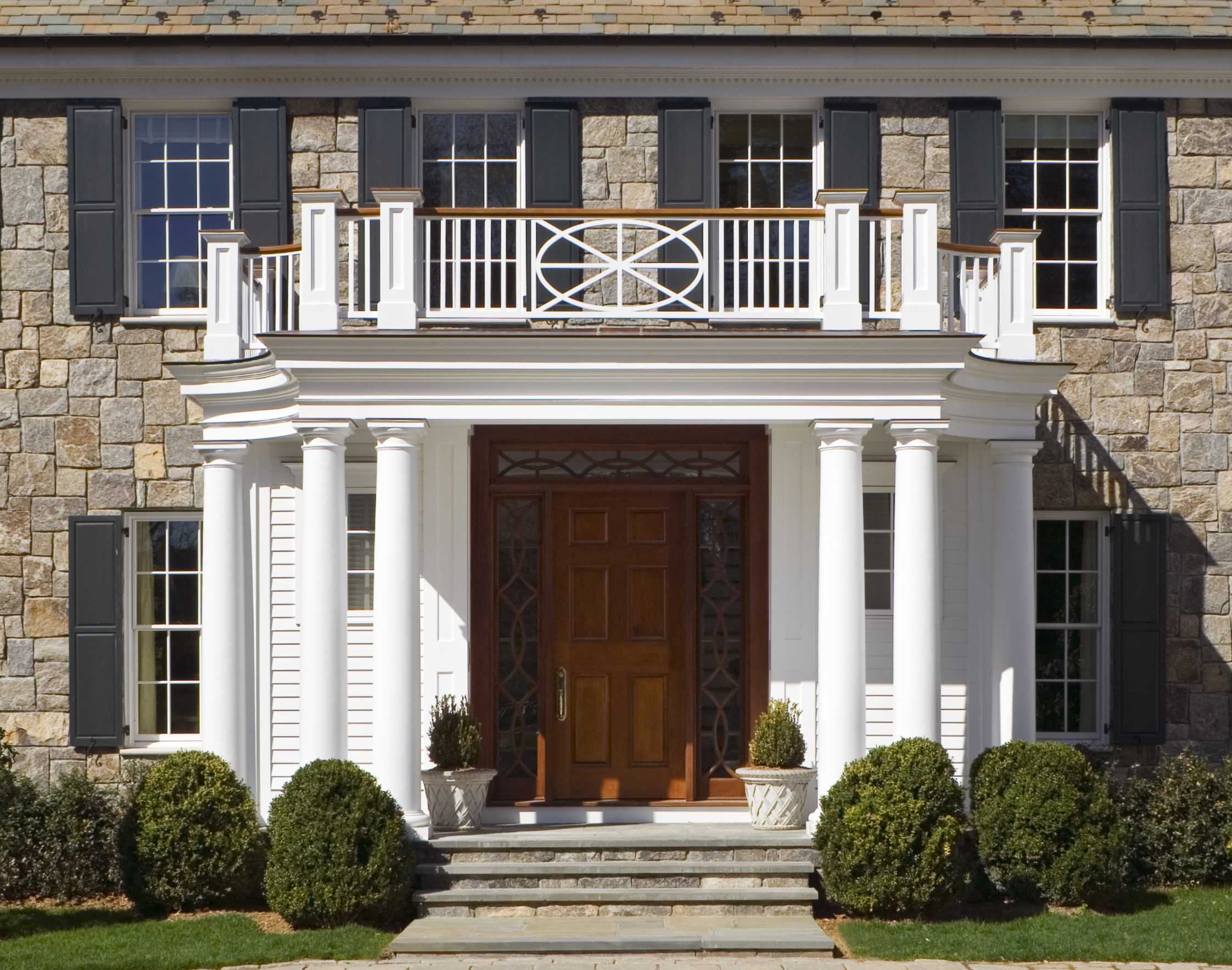 Entry to a Midcountry Greenwich residence