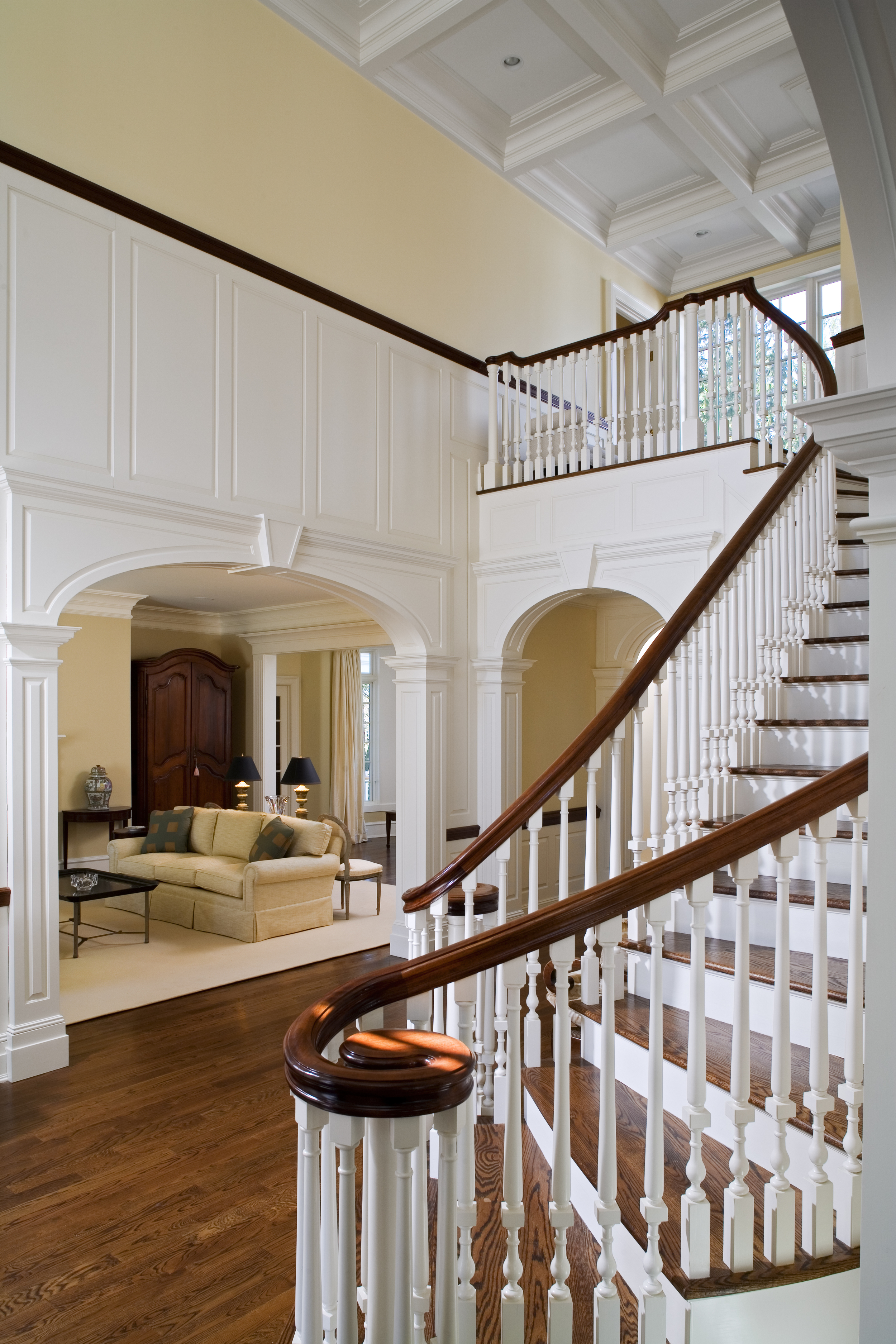 Entry Foyer of the Midcountry Greenwich Colonial