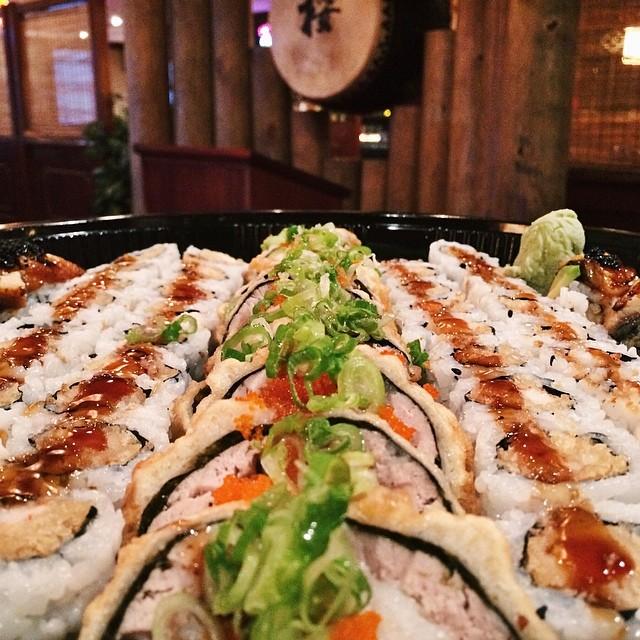 Rolls on rolls on rolls!  #SakuraHibachiNJ #sakura #hibachi #sushi #bobatea #parsippany #morriscounty #northjersey #nj #sushisaturday