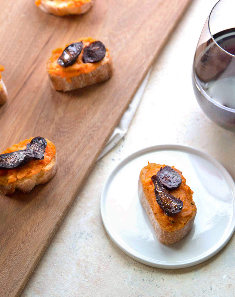 Sweetpotato Crostini with Red Wine California Figs - any usage must include -photo by Annelies Zijderveld- - for web use.JPG