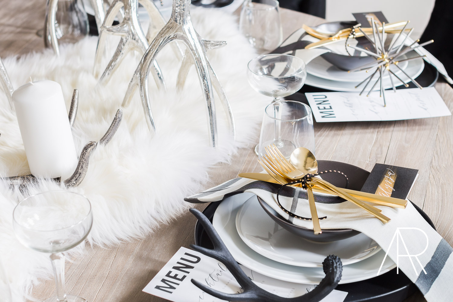 ©AlyssaRosenheck2015 Holiday Table Inspiration Shoot For Tiny Prints Featured in Domino Magazine by Alyssa Rosenheck Calligraphy by Amy May Paper