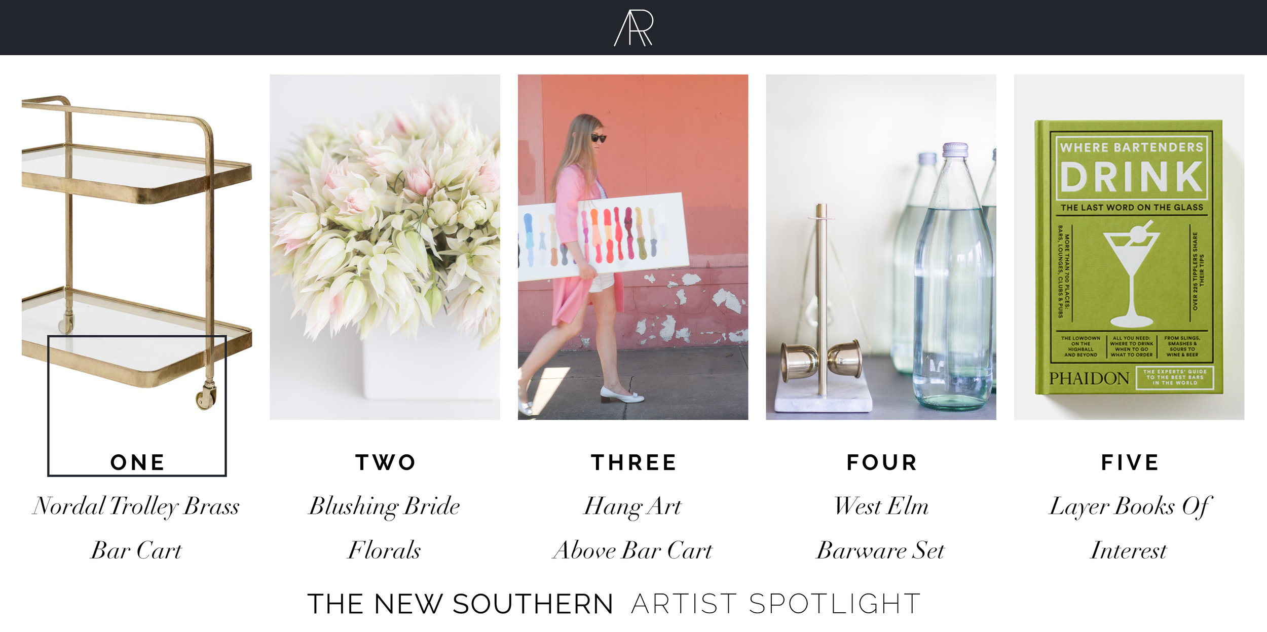 Alyssa Rosenheck's Then New Southern Bar Cart Favorites