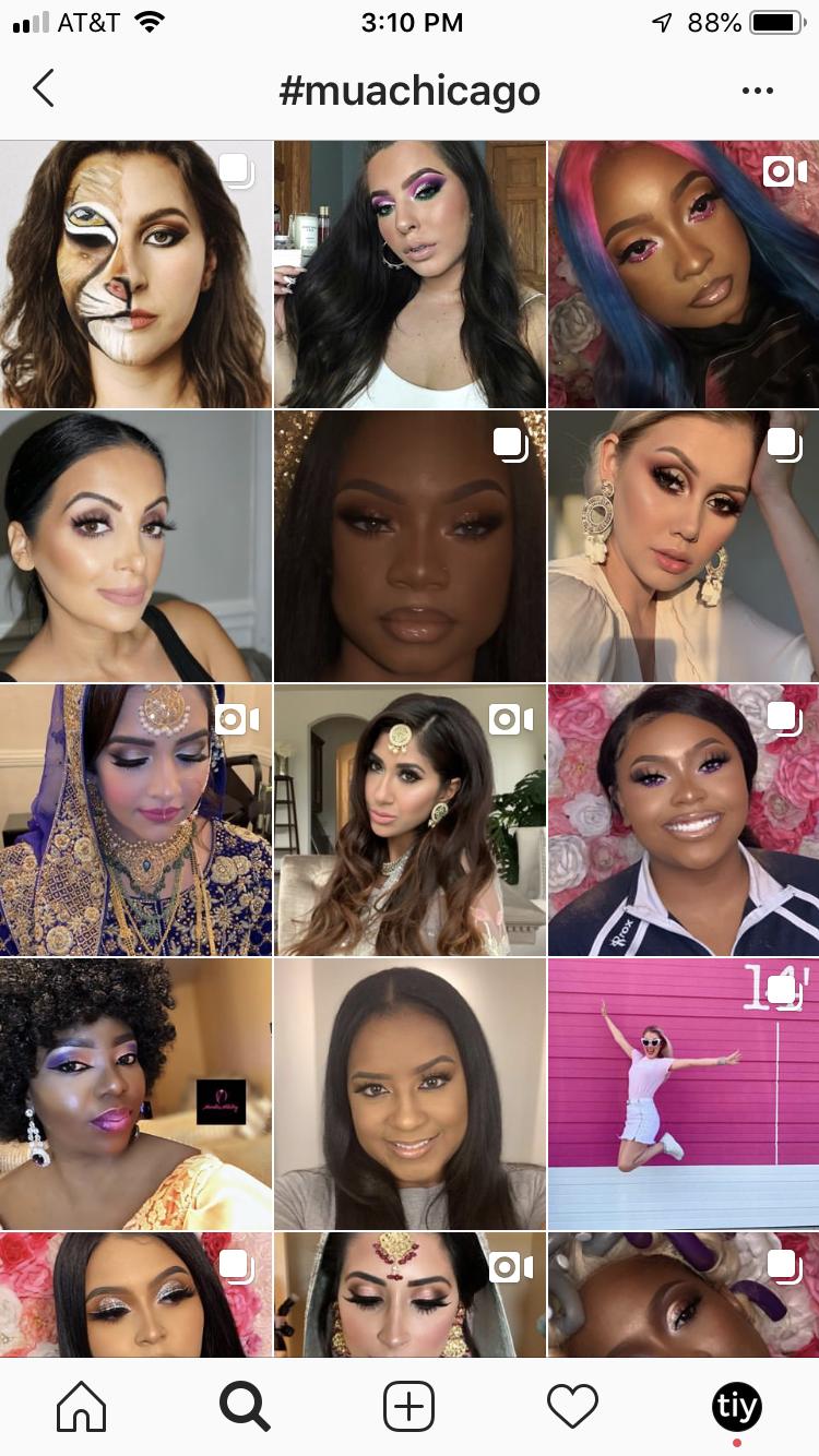 A Makeup Artist Using Instagram