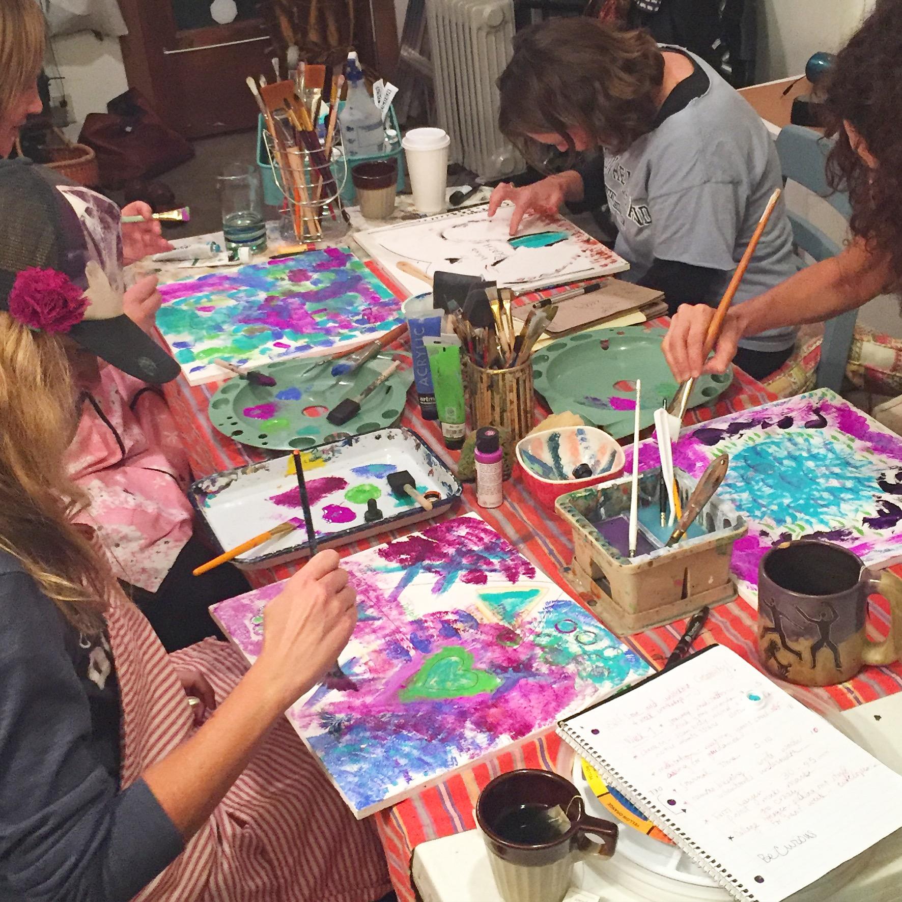 Sarah Love Love art class