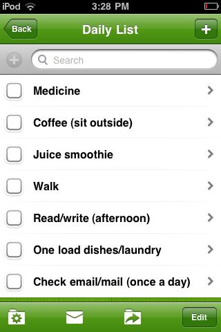 daily list