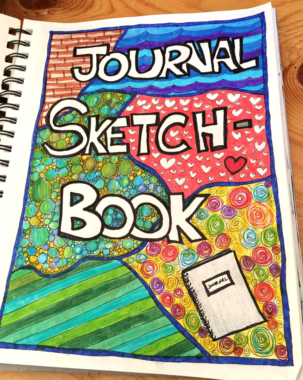 My journal sketch book - where I doodle (in the evening) what I'm learning during my morning quiet time and reading Scripture.  (My rule is that I just go for it, no starting over, no editing, just pure creativity and using the time to meditate on what I'm learning - making it sink in deep!!)