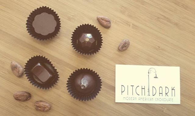 Nice spring day to enjoy a truffle #pdxcraft #chocolate #truffle
