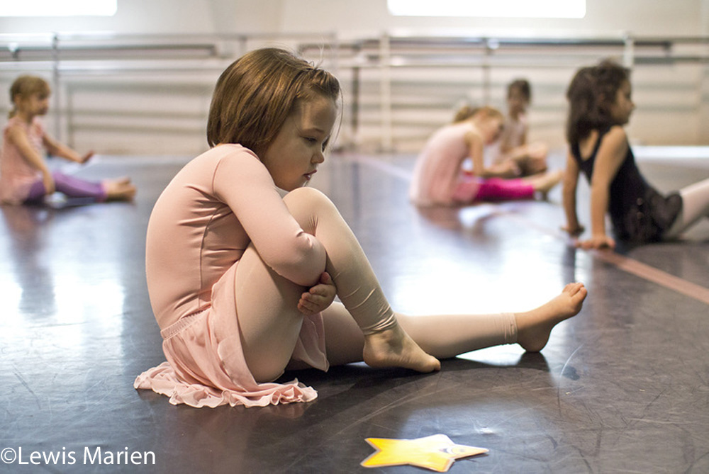 Kamdyn Mathews, 4, of Carterville, Ill., participates in an exercise during a preschool dance class on March 18at Willow Street Studios in Carbondale, Ill.
