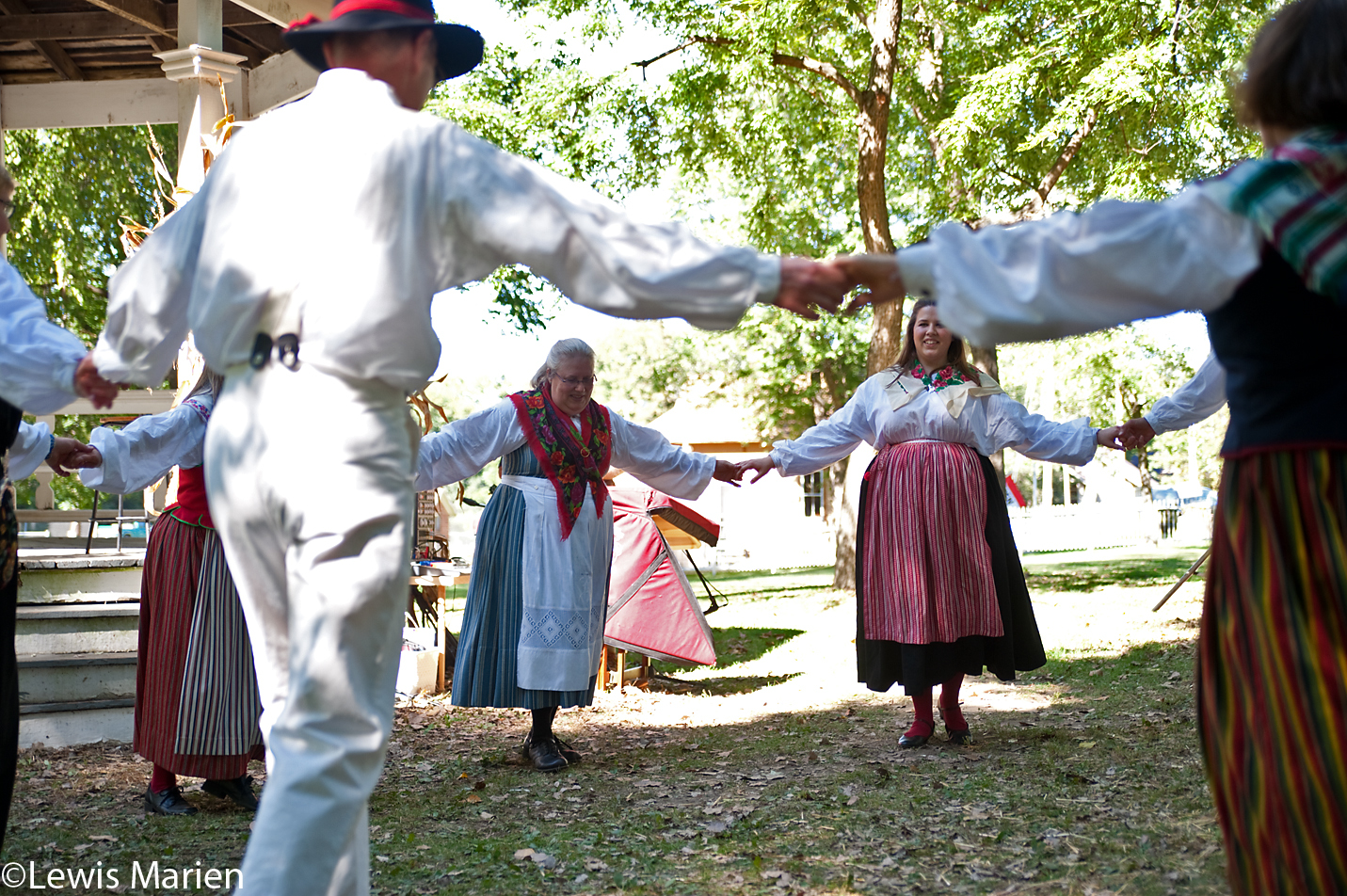 The Nordic Dancers, of Chicago, perform on Sept. 26 at the 44th annual Jordbruksdagarna in Bishop Hill, Ill.