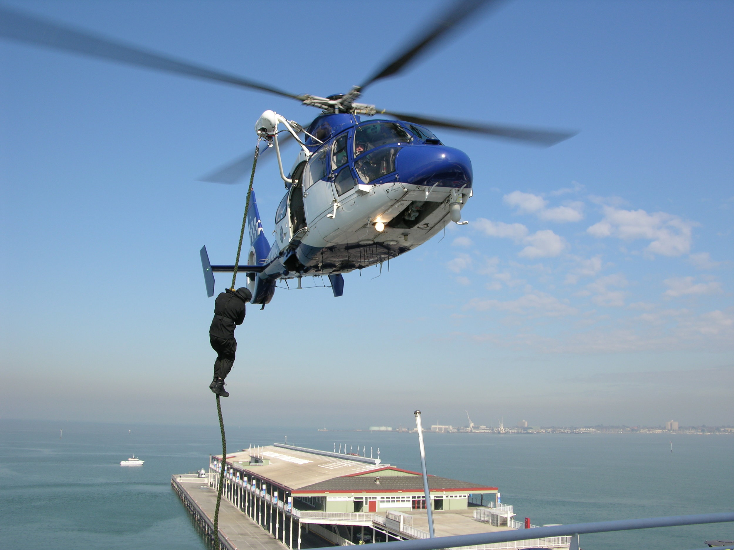 Police Air Wing - We have previously worked on police conversions for aircraft including AS365, EC145, EC130B4, BK117 and AS350. We are experienced in providing reliable design solutions for:- Night Vision Goggle (NVG) compatible lighting - Fast roping systems- Rappelling systems- Audio / Communications system design- FLIR camera installations- Searchlight installations- Workstation design and manufacture- Weapons mounts and stowage racks