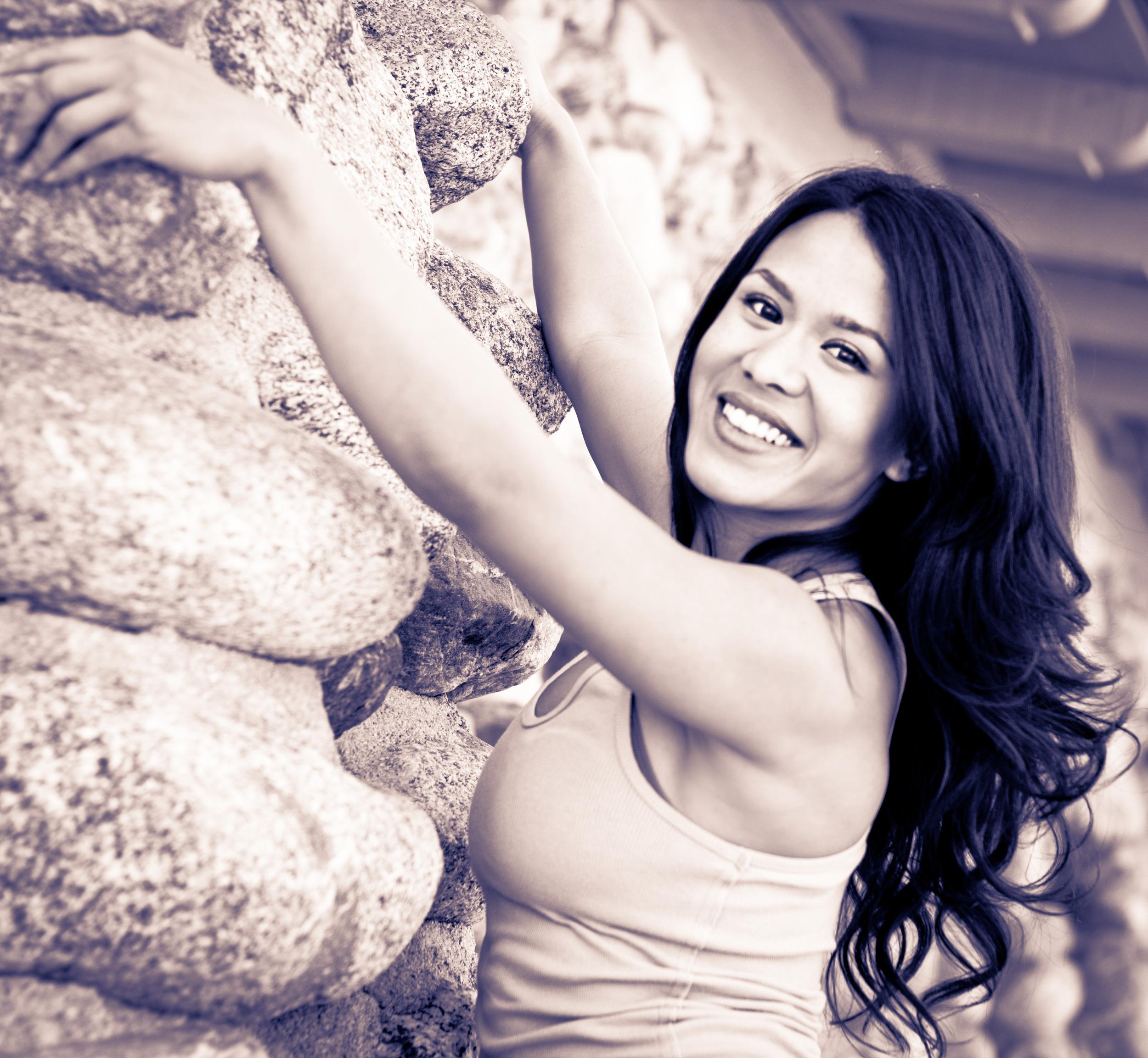 Danielle on Rocks