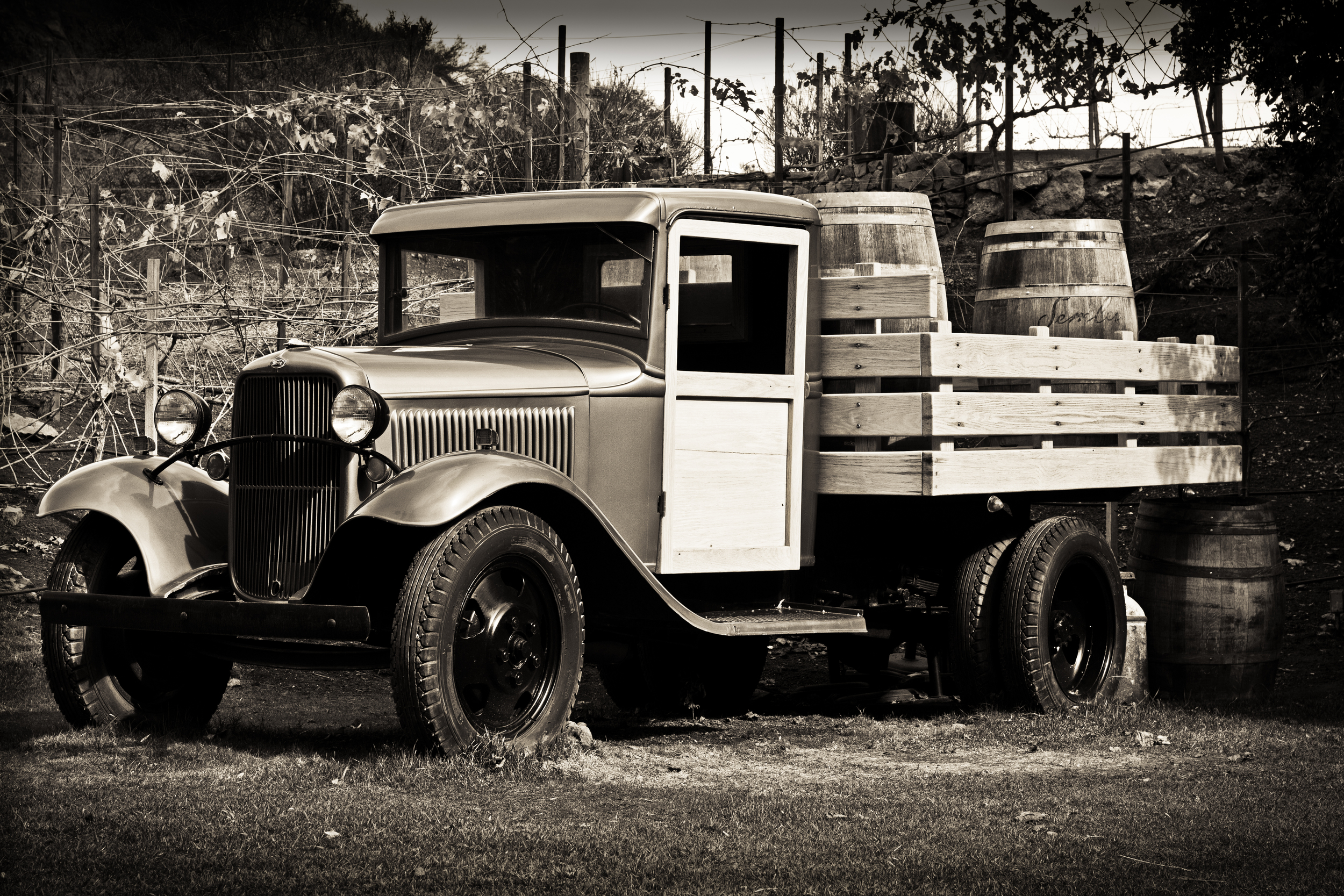 Old Wine Truck