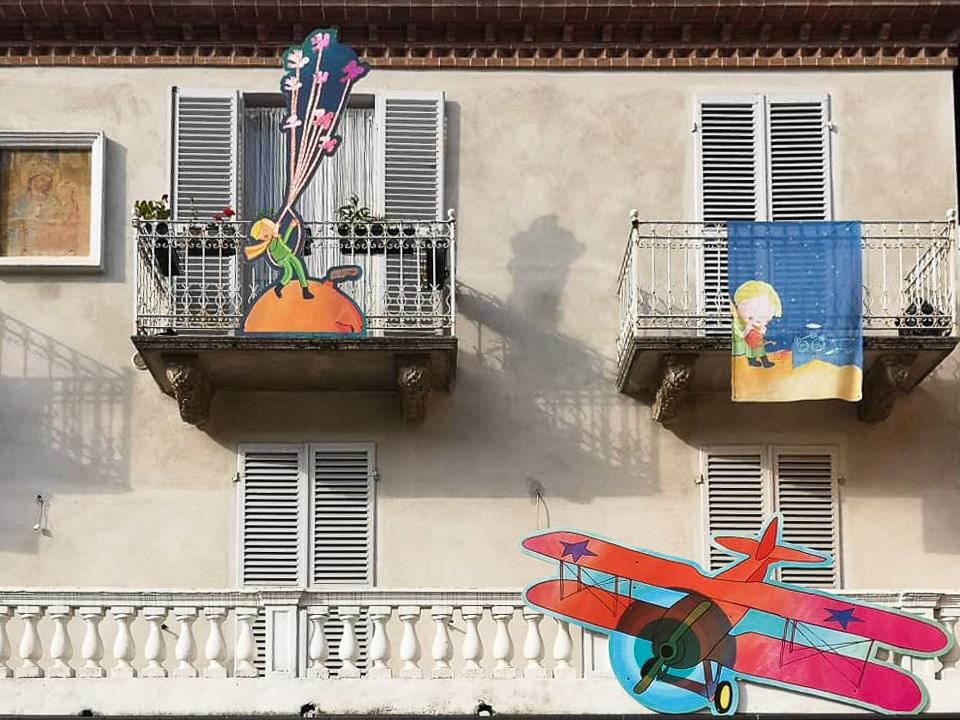 scenography in Monforte for VivoLibro The Little Prince