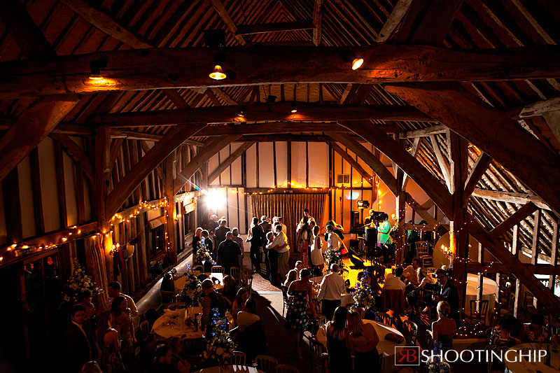 Fitzleroi Barn set up for the evening. Image Credit:  Shooting Hip