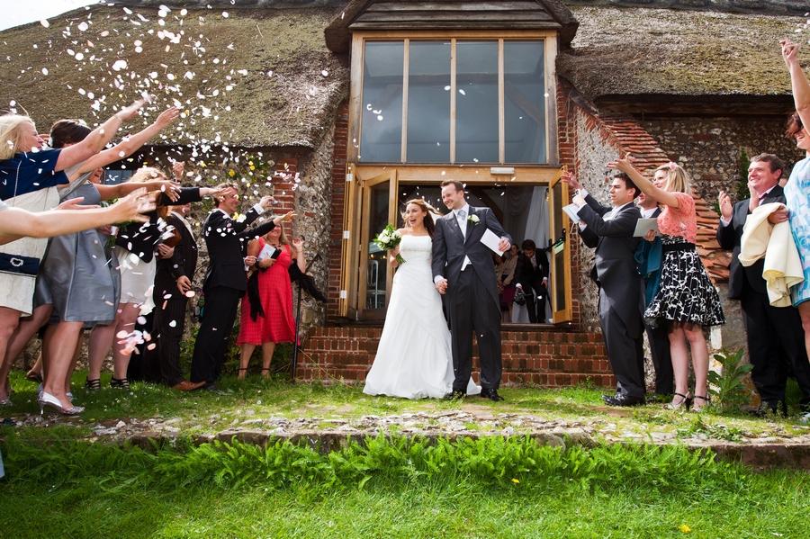 Northease Barn post wedding ceremony