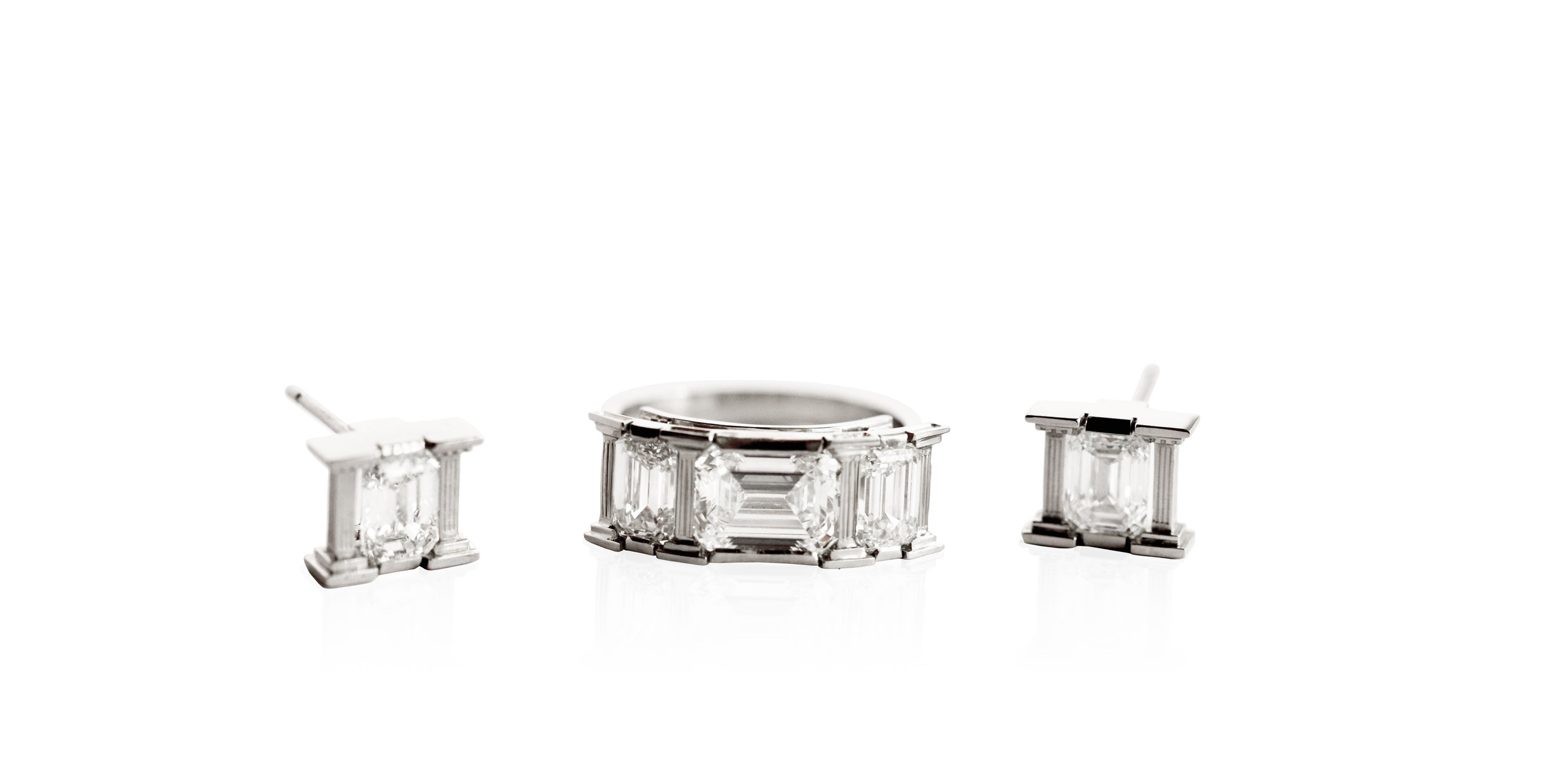 Arcadia Diamond Ring and Earrings