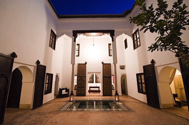 Riad Porte Royale. The Courtyard at Night.