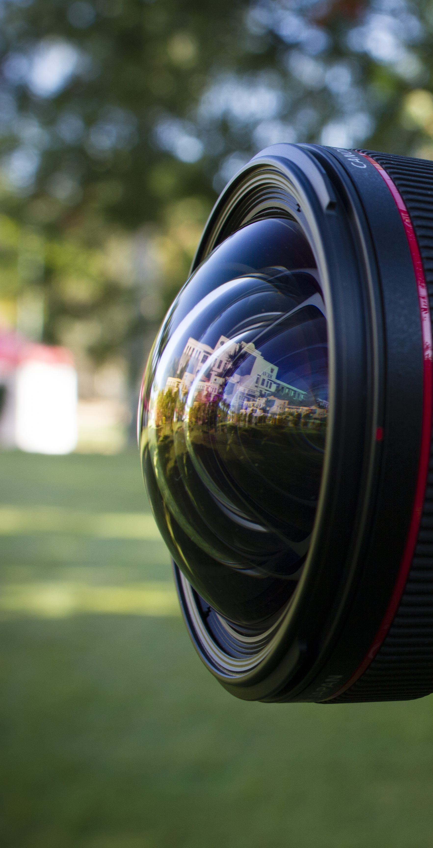 The bulging front element of the Canon TS-E 17mm f/4. This photograph of shot during an Architectural Photo Shoot conducted by Jude Lazaro in Bangalore, India.
