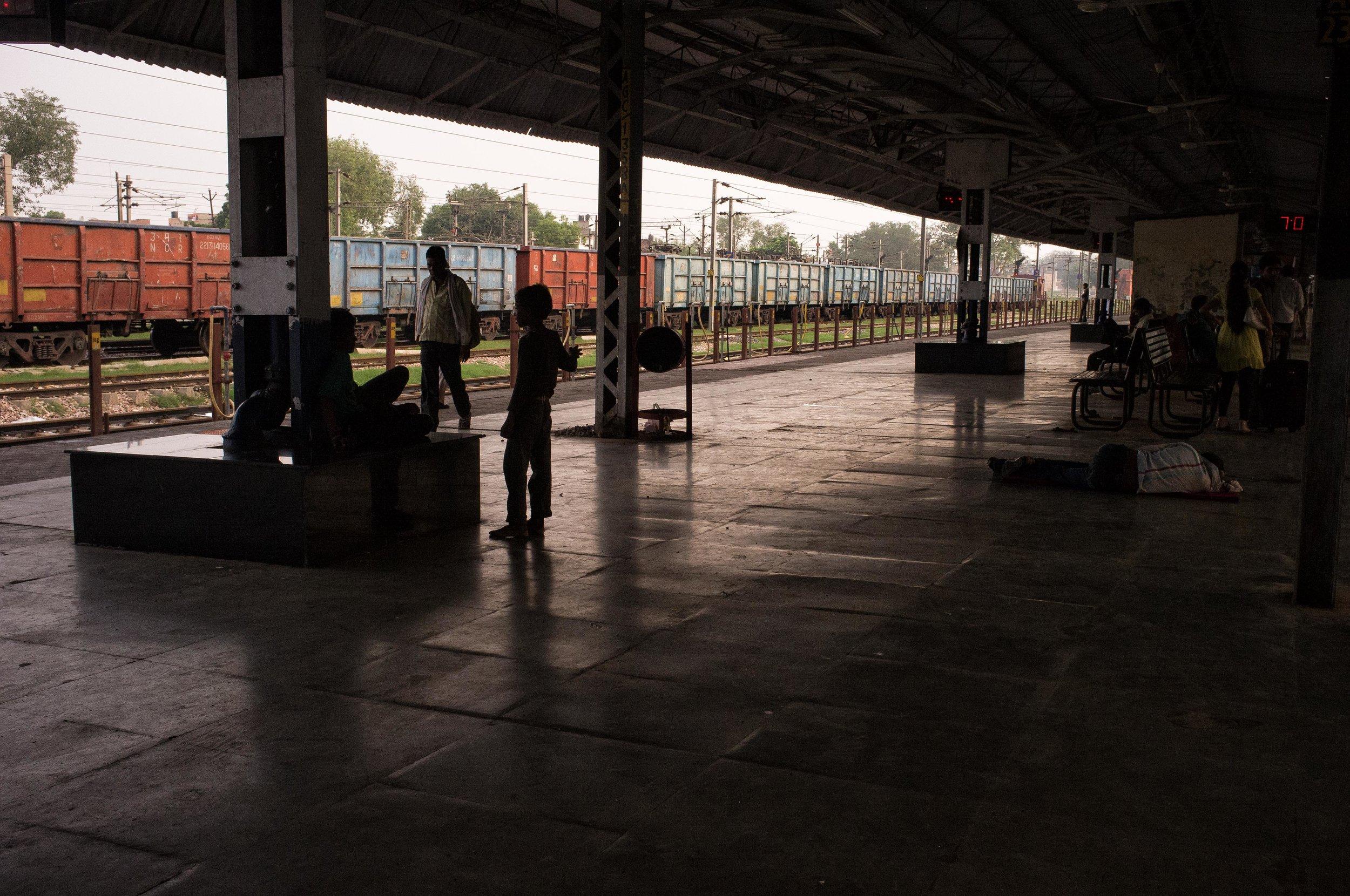 Train station, India, 2015