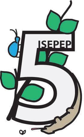 ISEPEP5 logo. Design by Heath MacMillan.