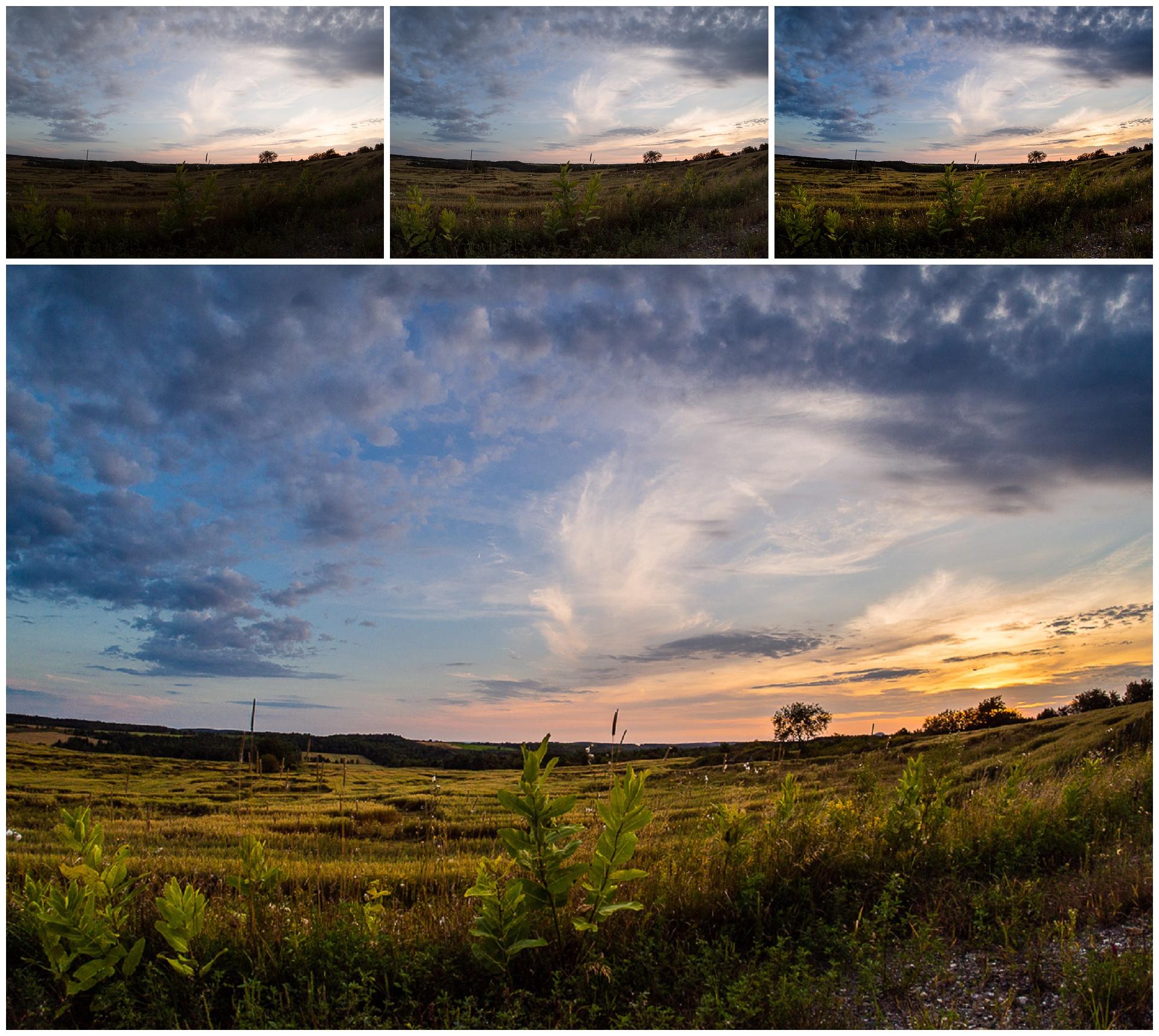 Grad Filters to lighten foreground and darken sky + Landscape Pop + Adjustments
