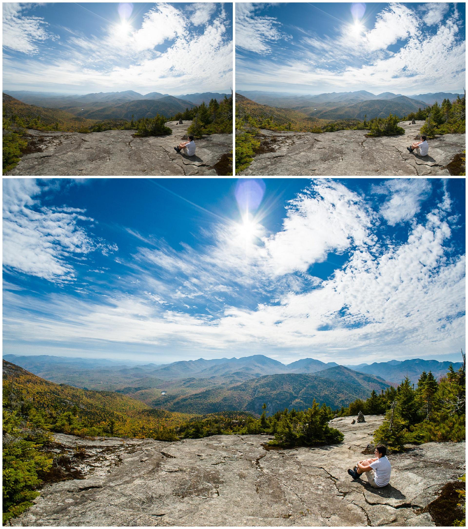 Grad Filters to lighten foreground and darken sky + Landscape Pop