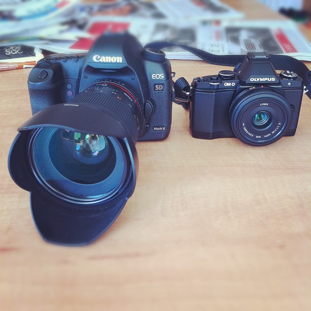 Canon 5D Mark II with 35mm f/1.4 vsOlympus OM-D E-M5 with 20mm f/1.7