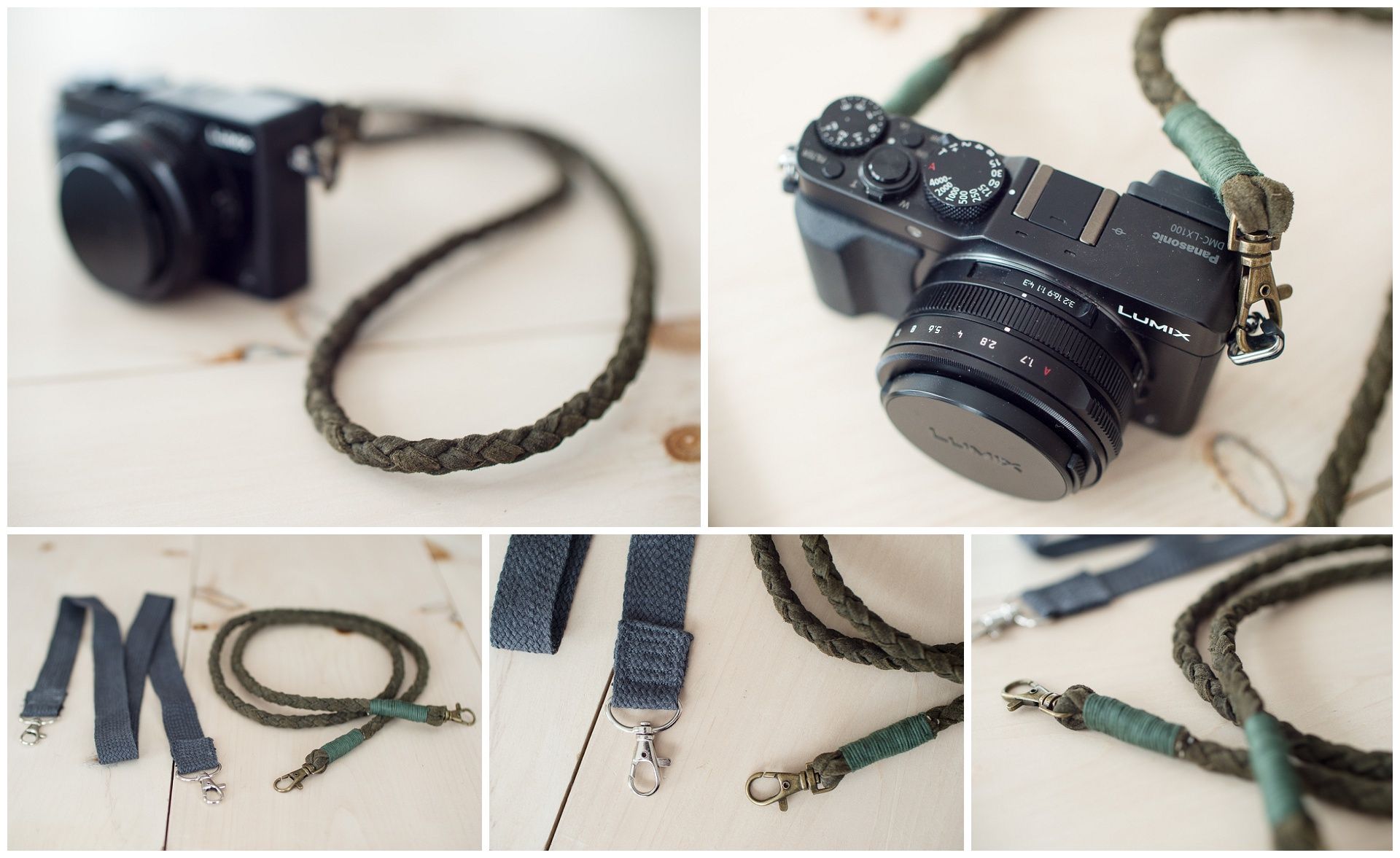 The two camera straps I made last friday :)