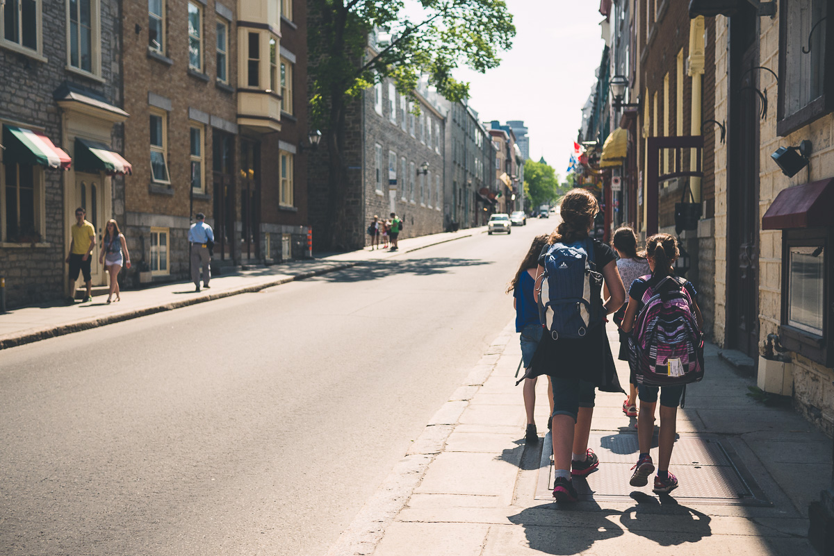 School trip to Quebec City with my daughter