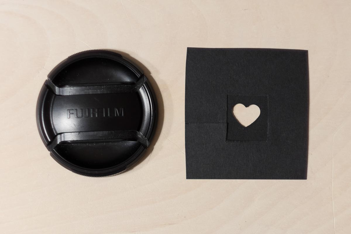 Cut a shape in black cardboard