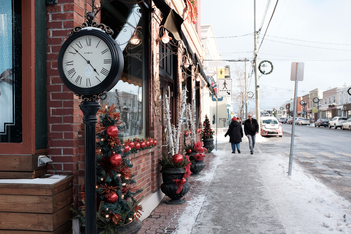 The streets of Magog, QC