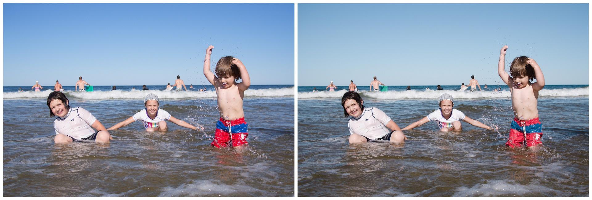 Mes enfants à la mer