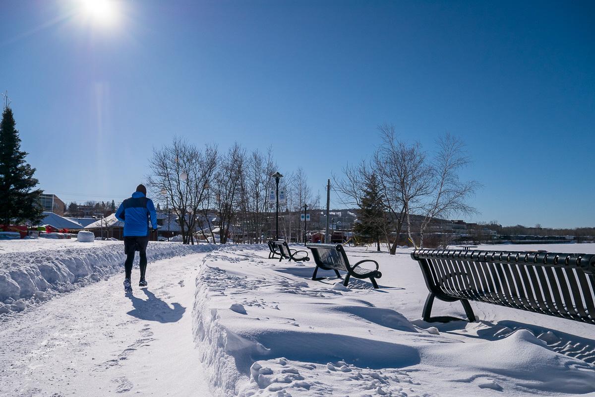 Someone running by -25°C