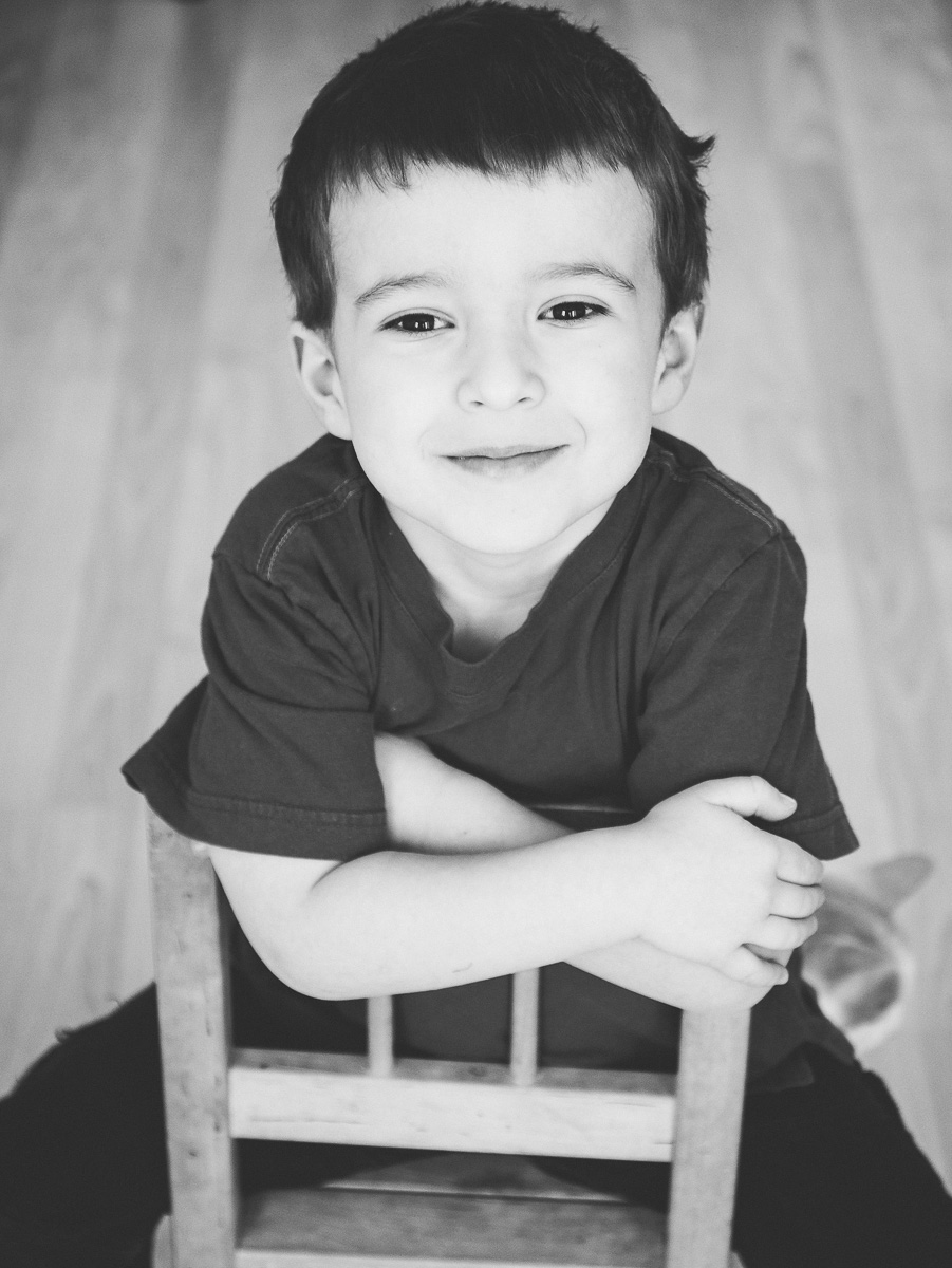 Étienne, 4 ans et demi aujourd'hui