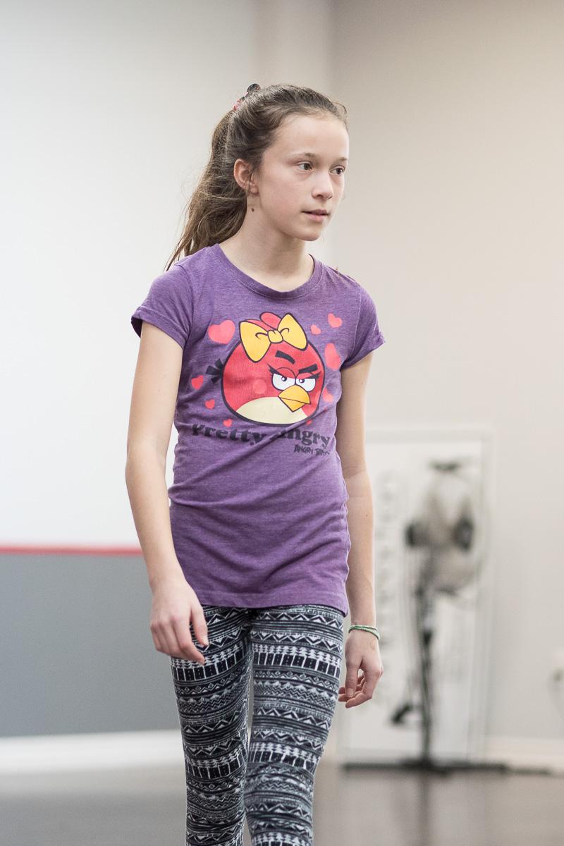 Sarah à son cours de danse