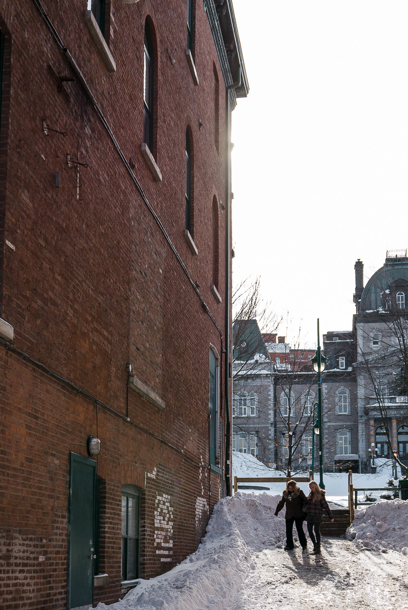 Spring showing its face. Downtown Sherbrooke.