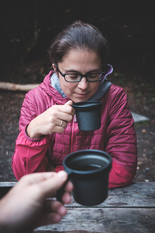 My favorite photo from that trip. Coffee while camping = happiness :)