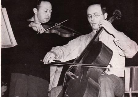 ...Emanuel Feuermann. Their recording of the Brahms Double Concerto is one of the all time great recordings, stupendous playing.