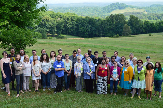 AppFellows, Host Community members and Management Team Members at the Highlander Research and Education Center during orientation.